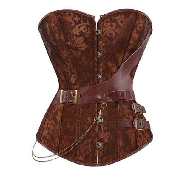 Steampunk Corset Faux Leather