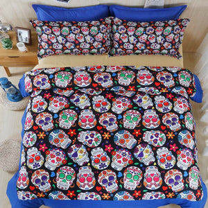 3D Skull 4 Pc Bedding Set