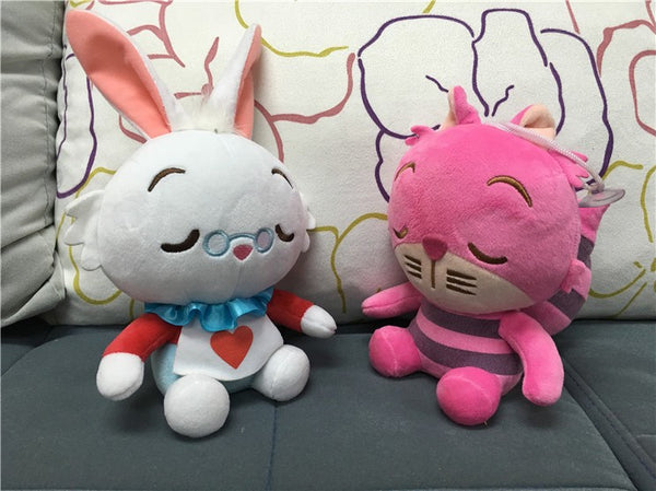 1 Each Alice In Wonderland Stuffed & Plush Toy Cheshire Cat Rabbit Alice
