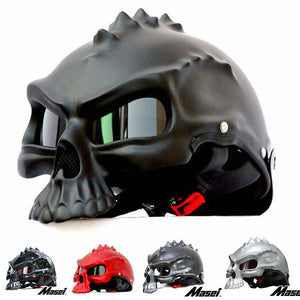 Skull Motorcycle Helmet  - Comes in different colors