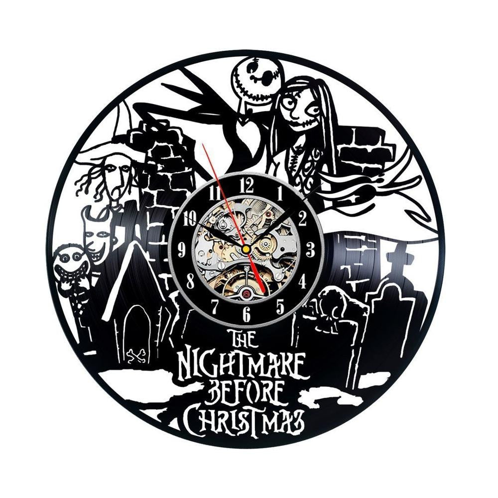 The Nightmare Before Christmas Vinyl Record Wall Clock – The ...