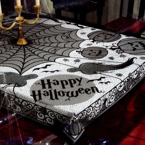 Halloween Party Decor Cobweb Tablecloth