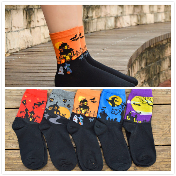 1 Pair Halloween Cartoon Socks