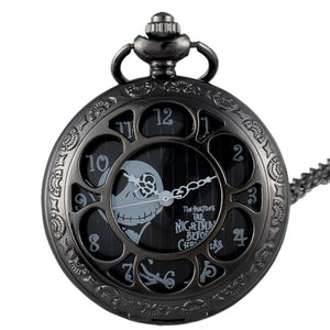 Jack Skellington Hollow Quartz Pocket Fob Watch