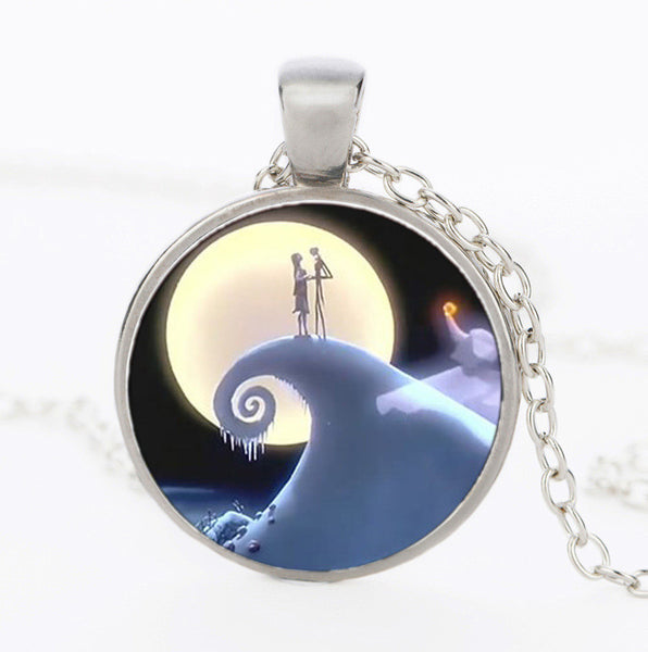 The Nightmare Before Christmas Jack & Sally Necklace