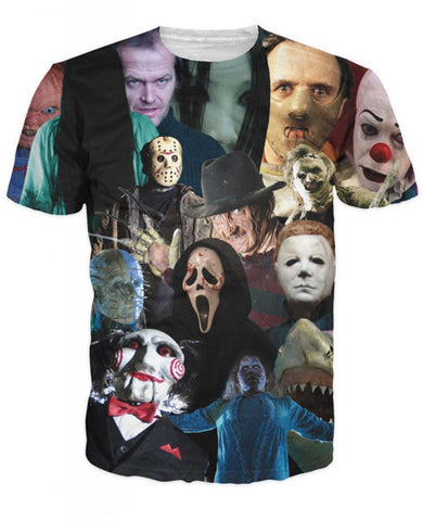 Horror Movie Killer Print HD 3D T Shirt