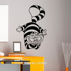 Alice In Wonderland Cheshire Cat Wall Art Sticker Decal Home