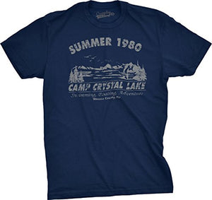 Mens Summer 1980 Camp Crystal Lake Friday 13th Jason T Shirt