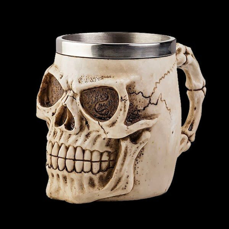 Skull Creative 3D Horror Face Drinking Cup