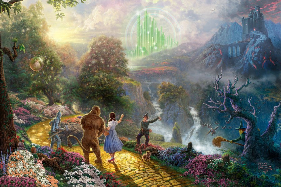 The Wizard Of Oz by Thomas Kinkade Poster Fabric Cloth Silk Wall Print