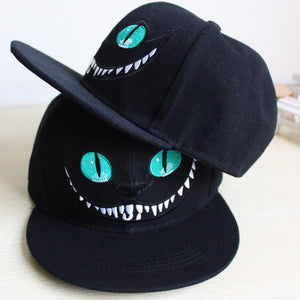 Alice in Wonderland Cheshire Cat Cartoon Snapback Hat