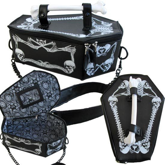Steampunk Gothic Vampire Bone Coffin Handbag