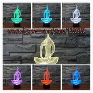 7 Color Changing 3D LED Nightlight Meditation Decoration