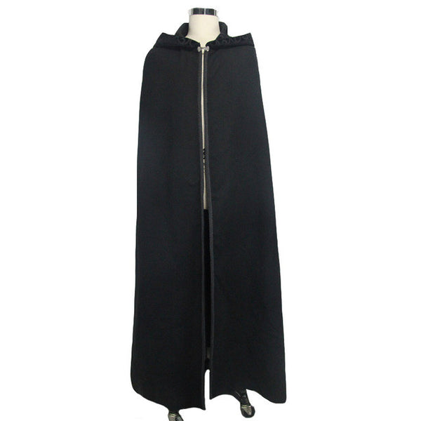Steampunk Hooded Gothic Trench Coat Feather Shawl