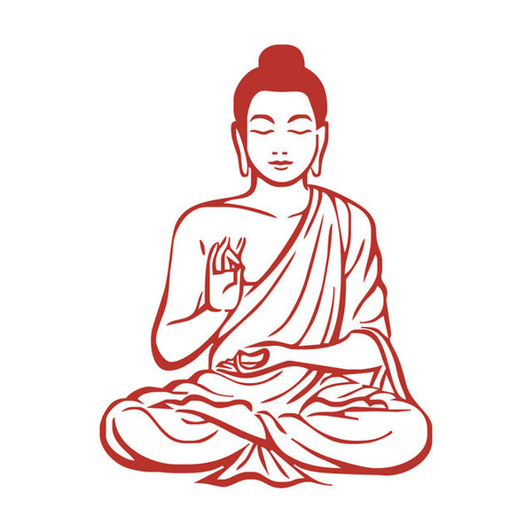Meditating Buddha Decal DIY Removable Art Wall Sticker Mural