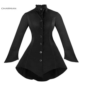 Women's Gothic Vintage Jacket Coat Long Sleeve Button Down