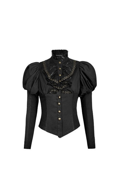 Punk Rave Gothic Red Steampunk Blouse Victorian Shirt