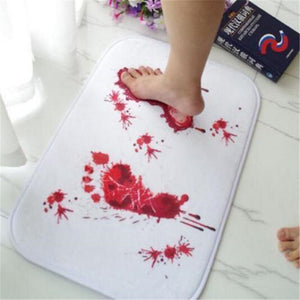 Gothic Punk Blood Foot Bath Shower Mats Carpet Cushion Horrible Mat Rug