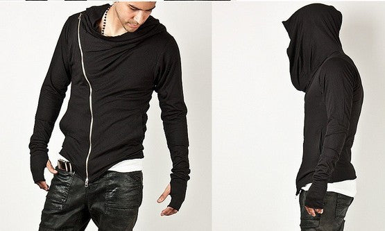Men Streetwear Zip Up Hoodie Sweatshirt