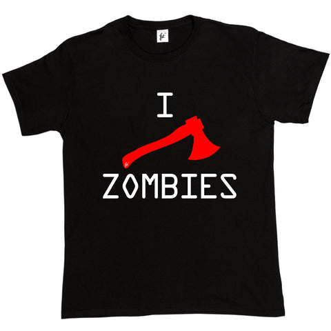 O-Neck Short-Sleeve I Axe Zombies Walking Dead T Shirt