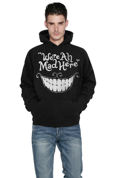 We're All Mad Here Alice in Wonderland Hoodie Sweatshirt