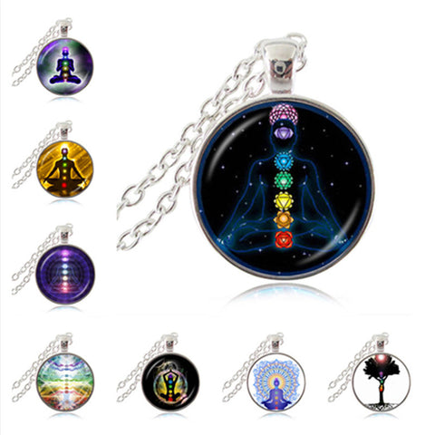 Chakra Reiki Healing Necklace Buddha Yoga Meditation Pendants