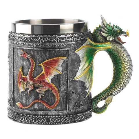 Medieval 3D Dragon Stainless Steel Mug Cup