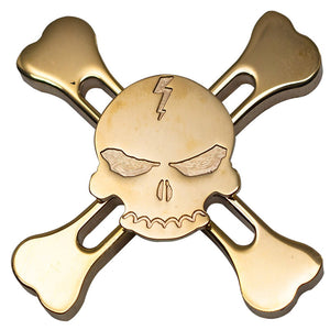 New Original Skull Brass Fidget Hand Spinner