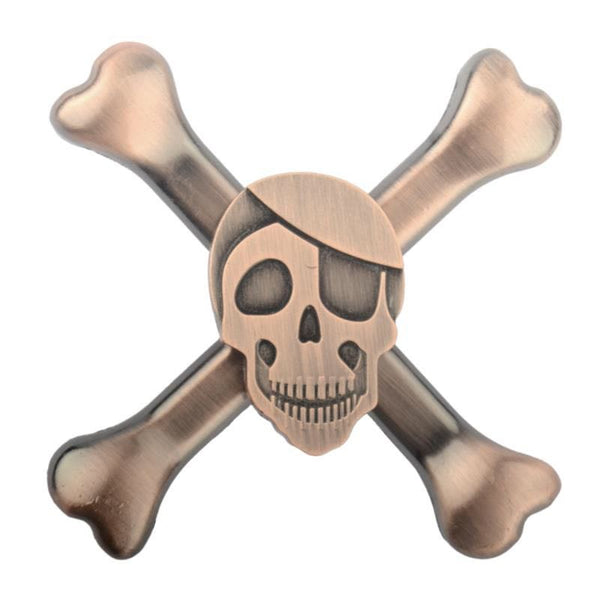 Skull Head Metal Fidget Hand Spinner