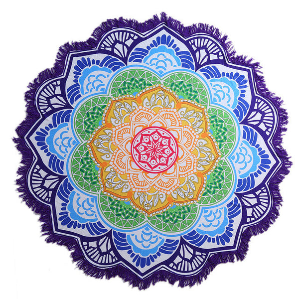 Mandala Blanket 7 Chakra Colored Blanket