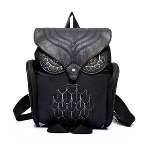 Red/ Blue / Purple/ Hot Pink/ Gold & Black Owl Leather Backpacks