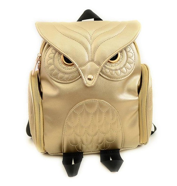 Variety Colors Owl Leather Backpacks