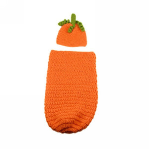 Baby Pumpkin Photography Crochet Knitted Outfit