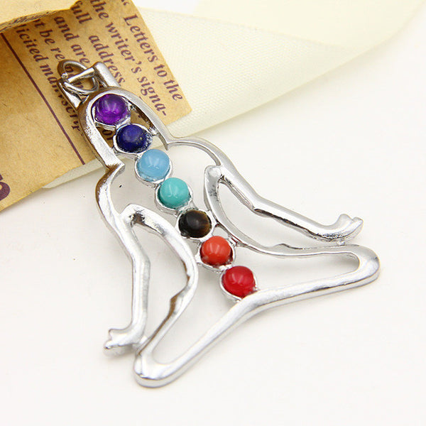 7 Chakra Healing Stones Pendant Necklace Jewelry