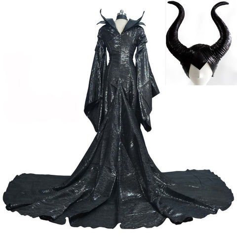 Custom Made Dark Witch Maleficent Dress Costume