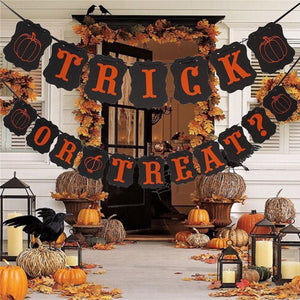 Halloween Decoration Happy Halloween/Trick or Treat Banner