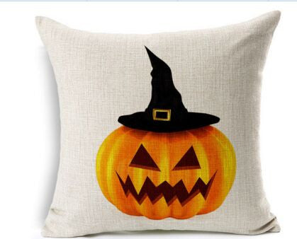 Halloween Sofa Cushion Linen Cover
