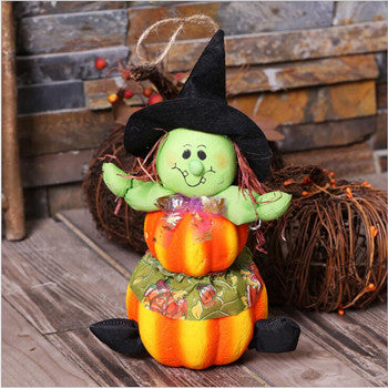 Halloween Witch Pumpkin Doll 13cm Ornament Decoration
