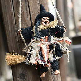 Halloween Hanging Witch Welcome Decoration