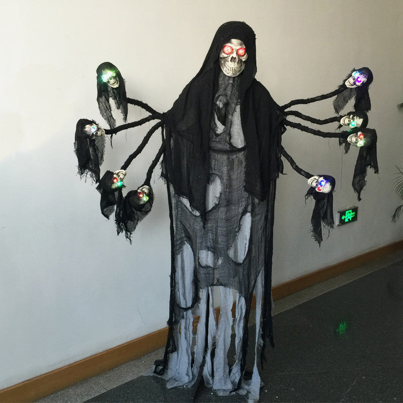 6 Feet Tall Giant Spooky Standing Ghost with Light up Eyes