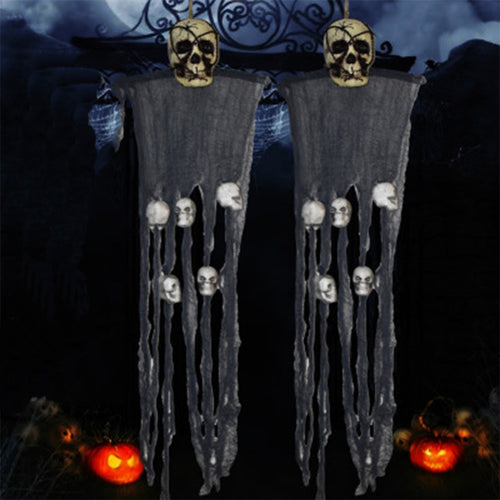 1 Pc Scary Hanging Skeleton Ghost Halloween Prop