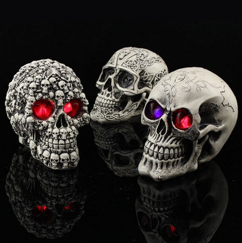 Glowing Skull Head Halloween Decoration