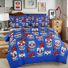 3D Creative Halloween Skull 4pc Bedding Set