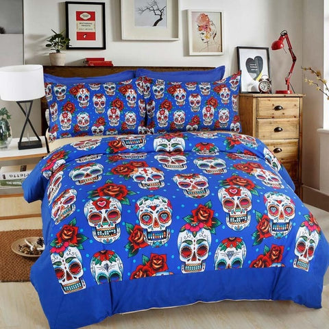 3D Creative Skull 4pc Bedding Set