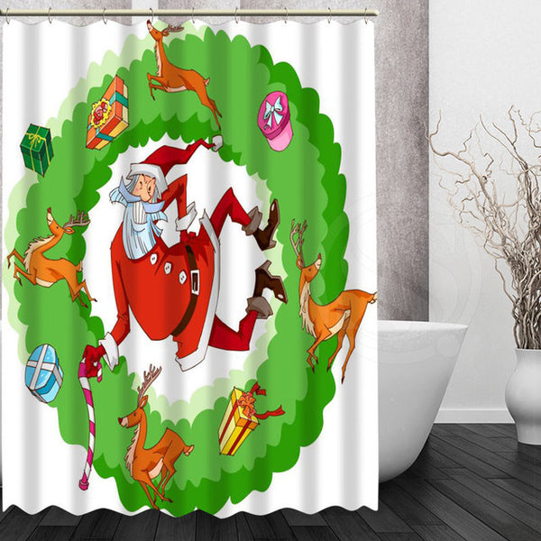 Variety Christmas Style Shower Curtains
