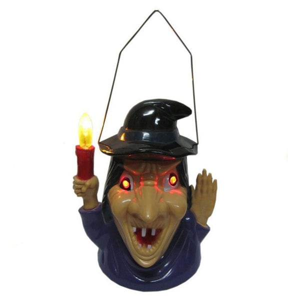Halloween Pumpkin Skull Witch Lantern With Scary Sounds
