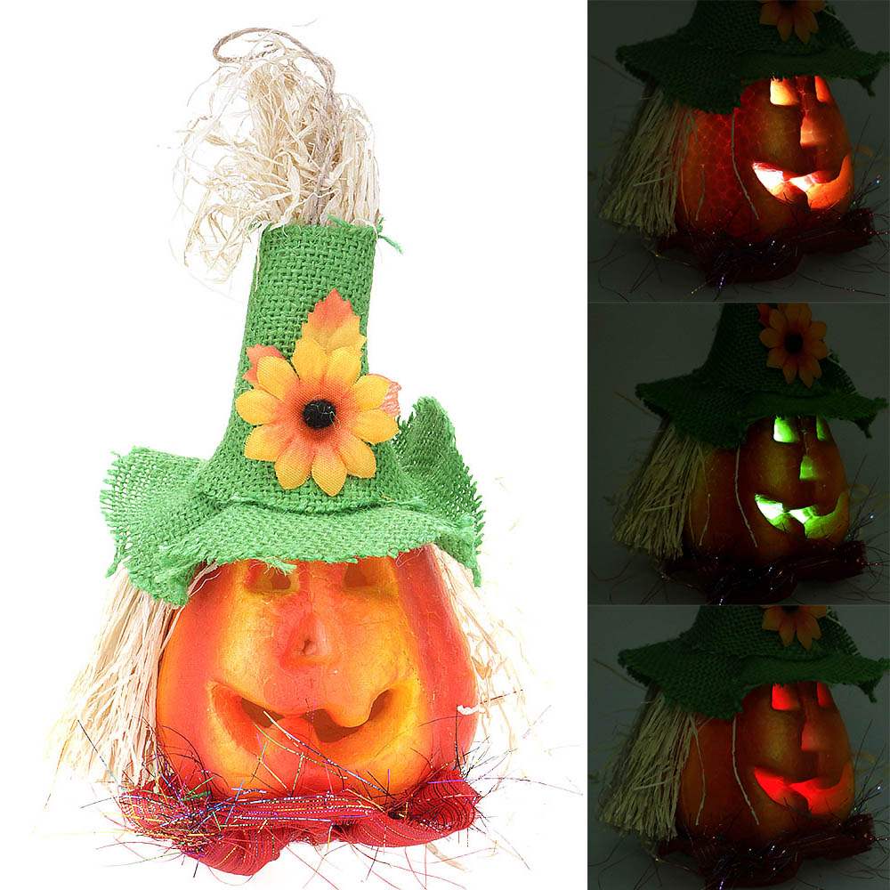 Pumpkin Strobe Light Changing Color Flash LED Decoration