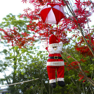 Christmas Santa Snowman Hanging Parachute Decoration