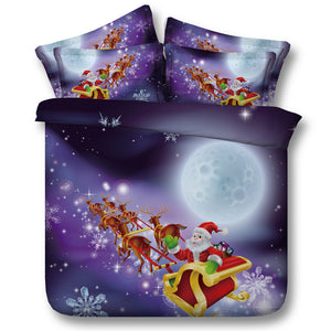 3D Christmas Santa Claus Bedding Set