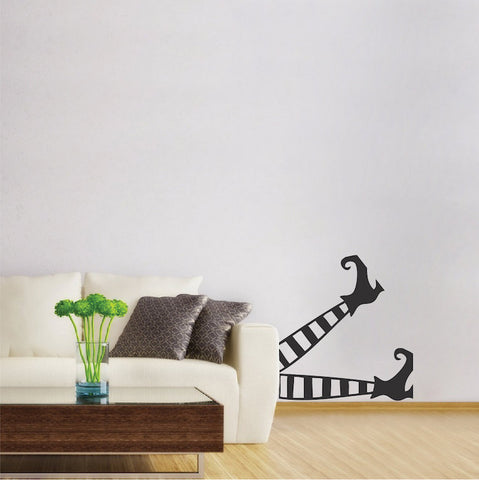 Witch Legs Home Halloween Wall Sticker